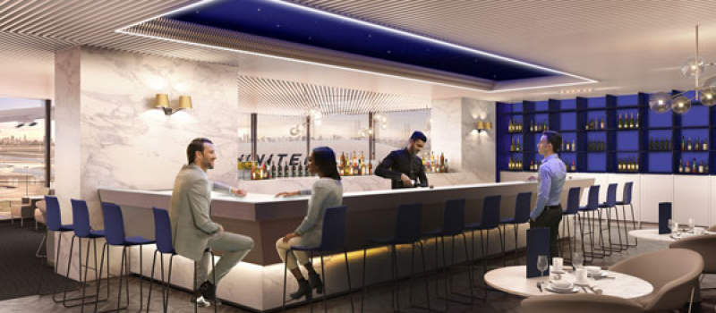United Airlines Polaris Lounge Chicago Ohare